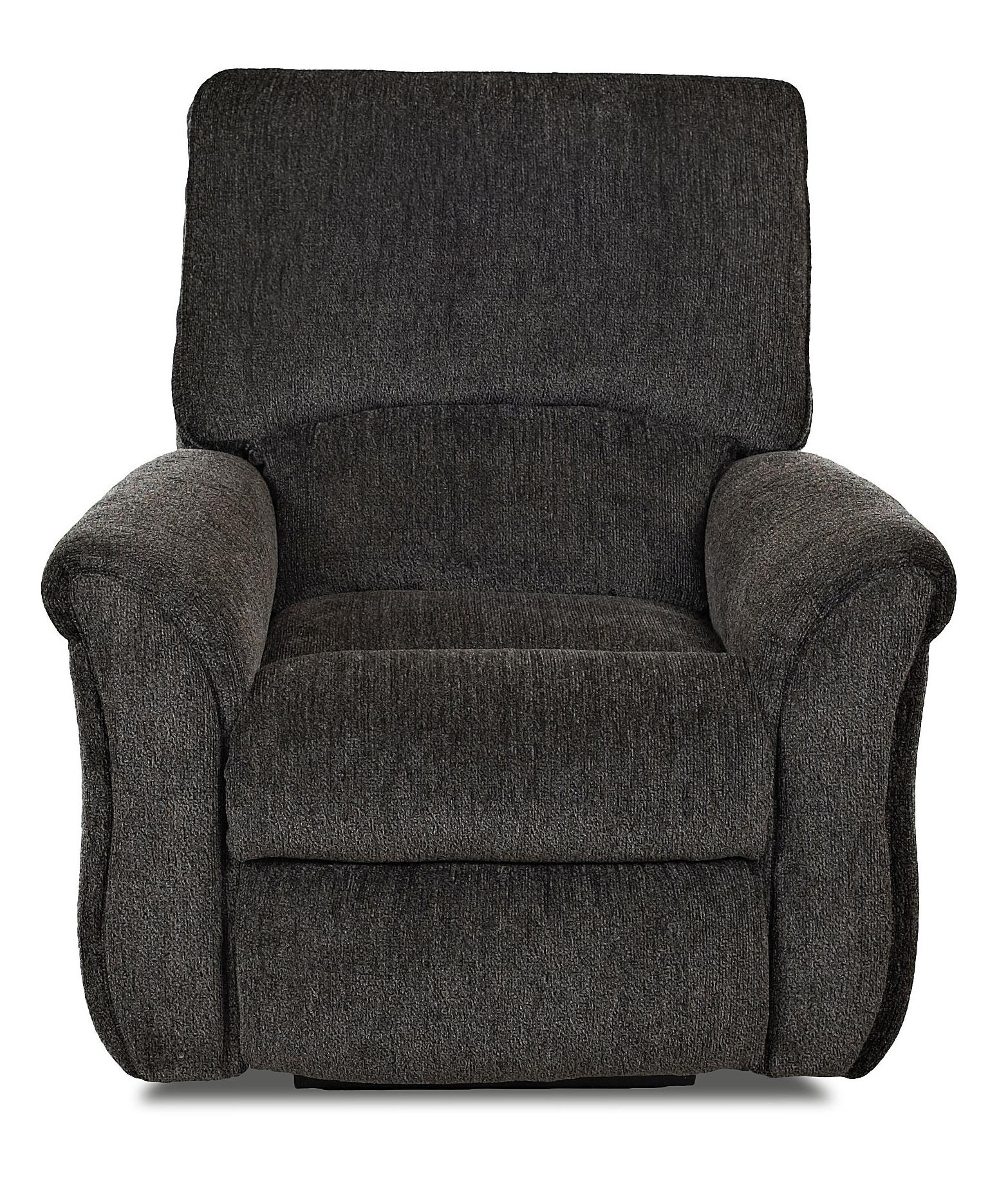 Transitional Power Reclining Chair with Pillow Top Flared Arms