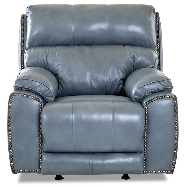 Power Recliner with Nailheads and USB Charging Port