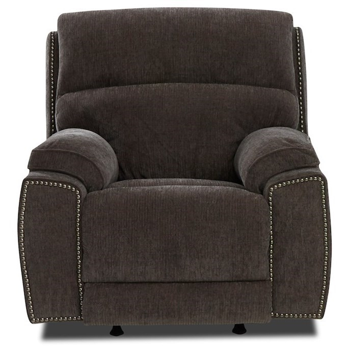 Power Nailhead Recliner with Power Tilt Headrest, USB Charging Port, Bluetooth Function