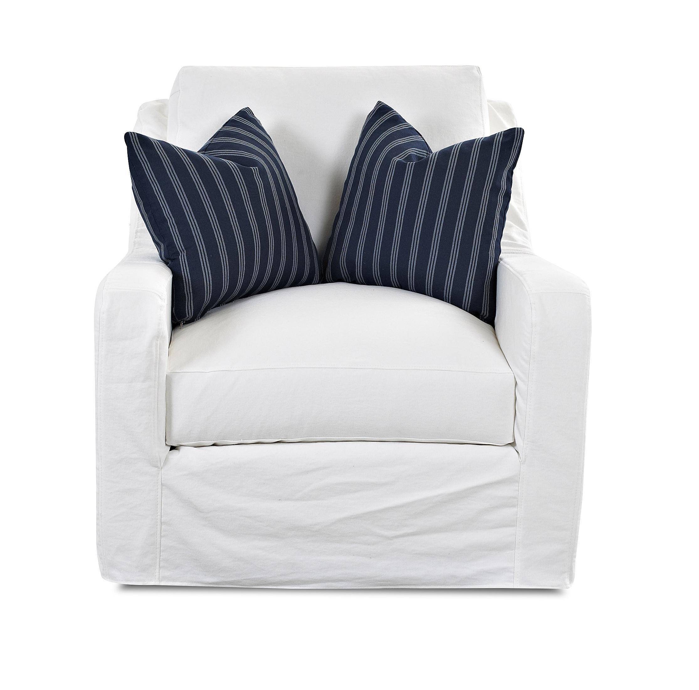 Transitional Big Chair with Slip Cover