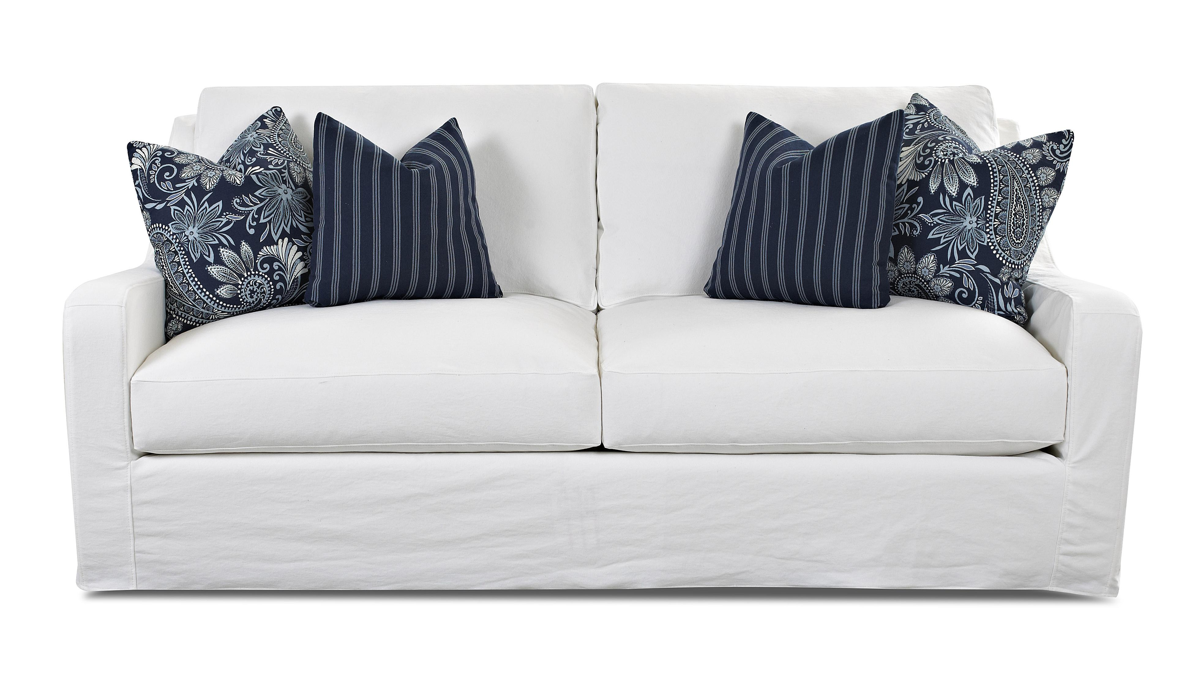 Transitional Sofa with Slipcover