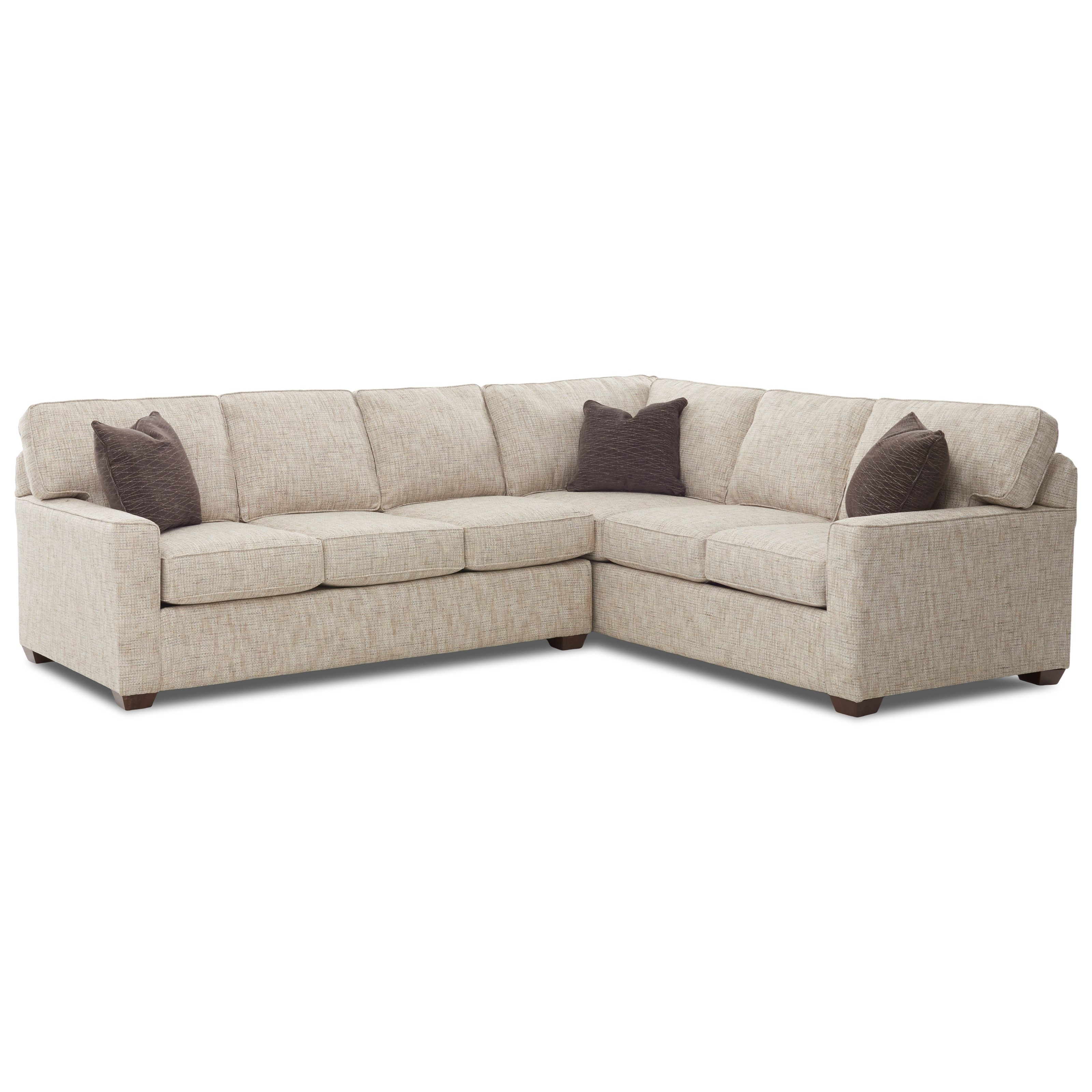 2 Piece Sectional Sofa with RAF Corner Sofa by Klaussner | Wolf ...