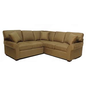 Klaussner Patterns 2-Piece Sectional