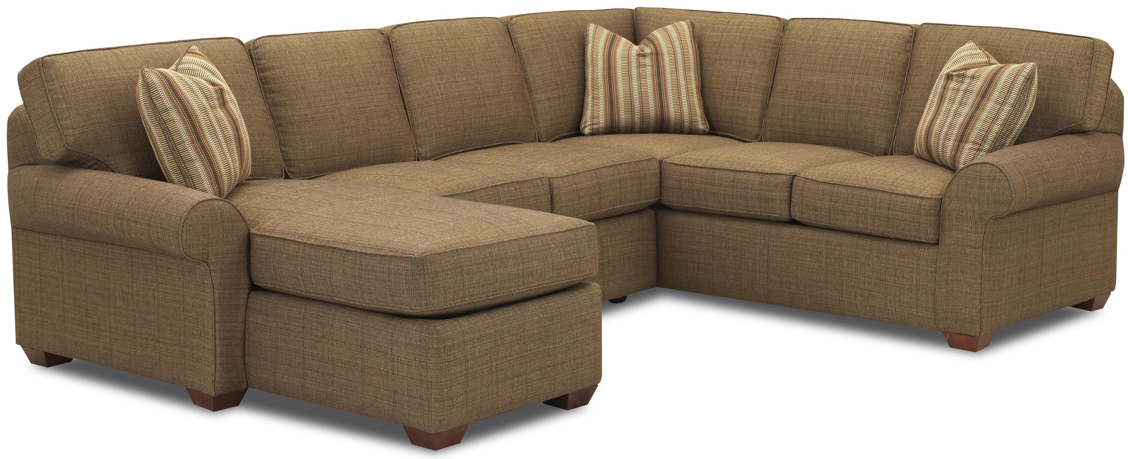 Sectional sofa group with left chaise lounge by klaussner for Alexander sectional sofa chaise