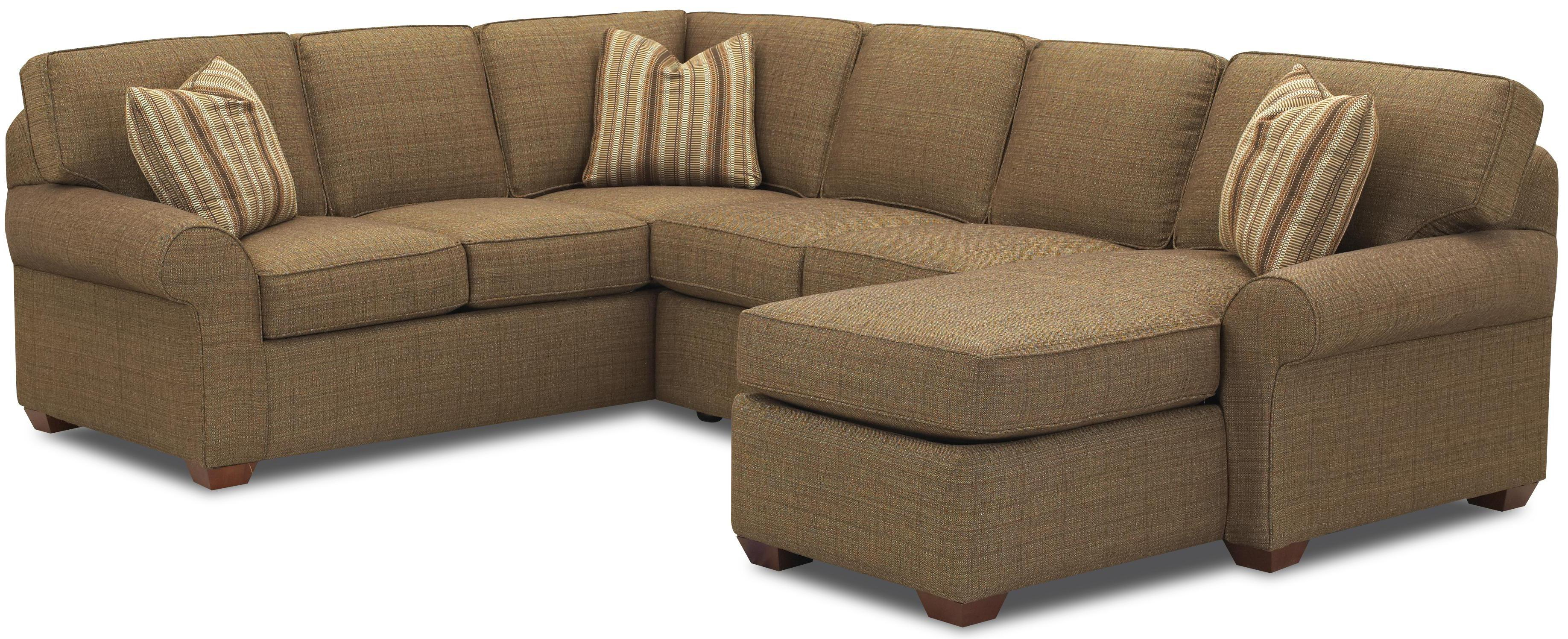 Sectional Sofa Group with Right Chaise Lounge by Klaussner