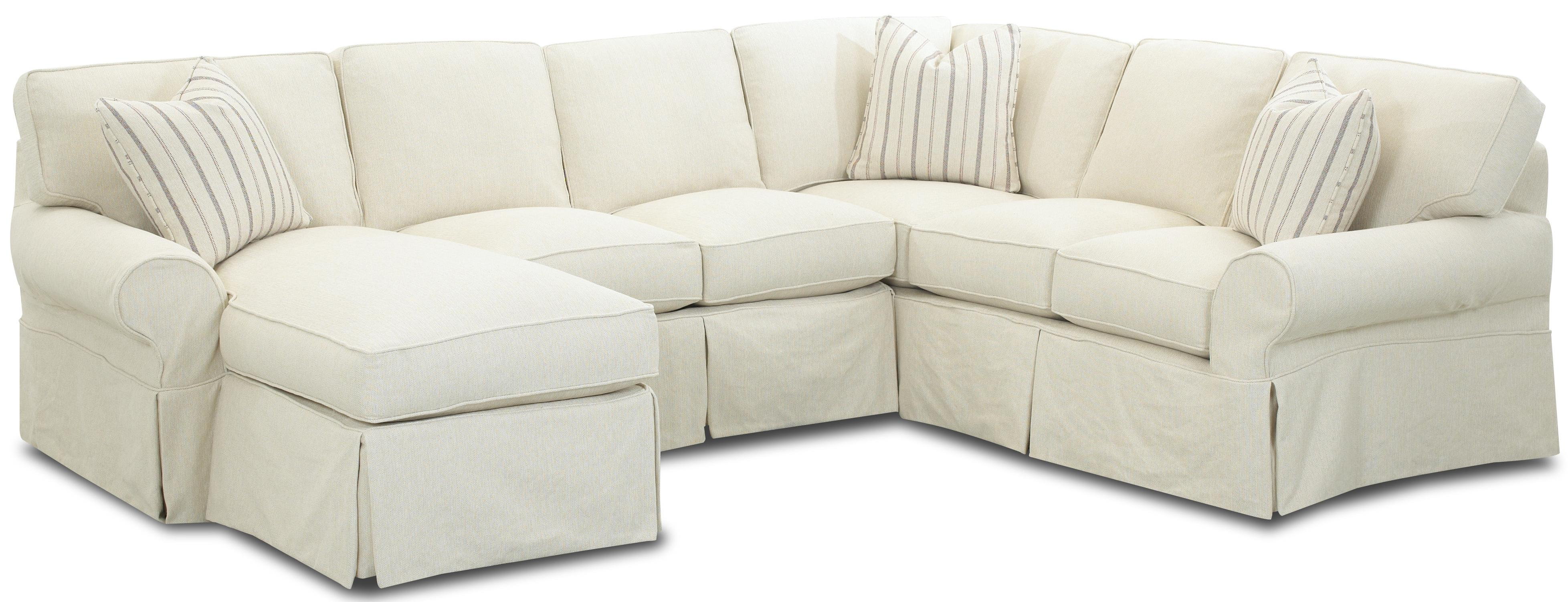 Slipcovered Sectional Sofa with Left Chaise by Klaussner