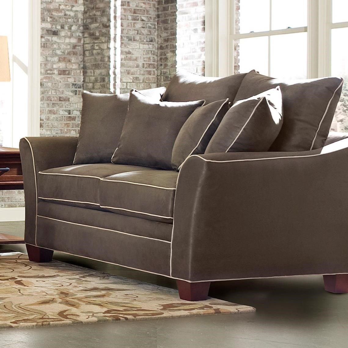 Contemporary Loveseat with Contrasting Welt Cords