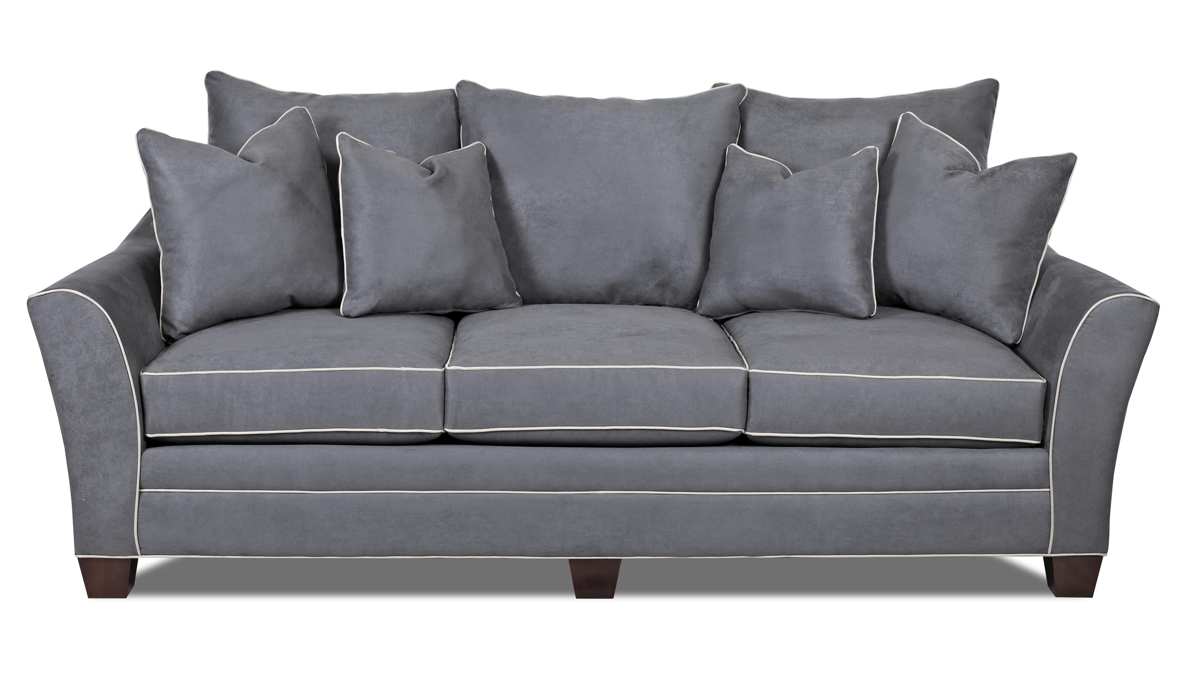 Contemporary Sofa with Block Feet by Klaussner