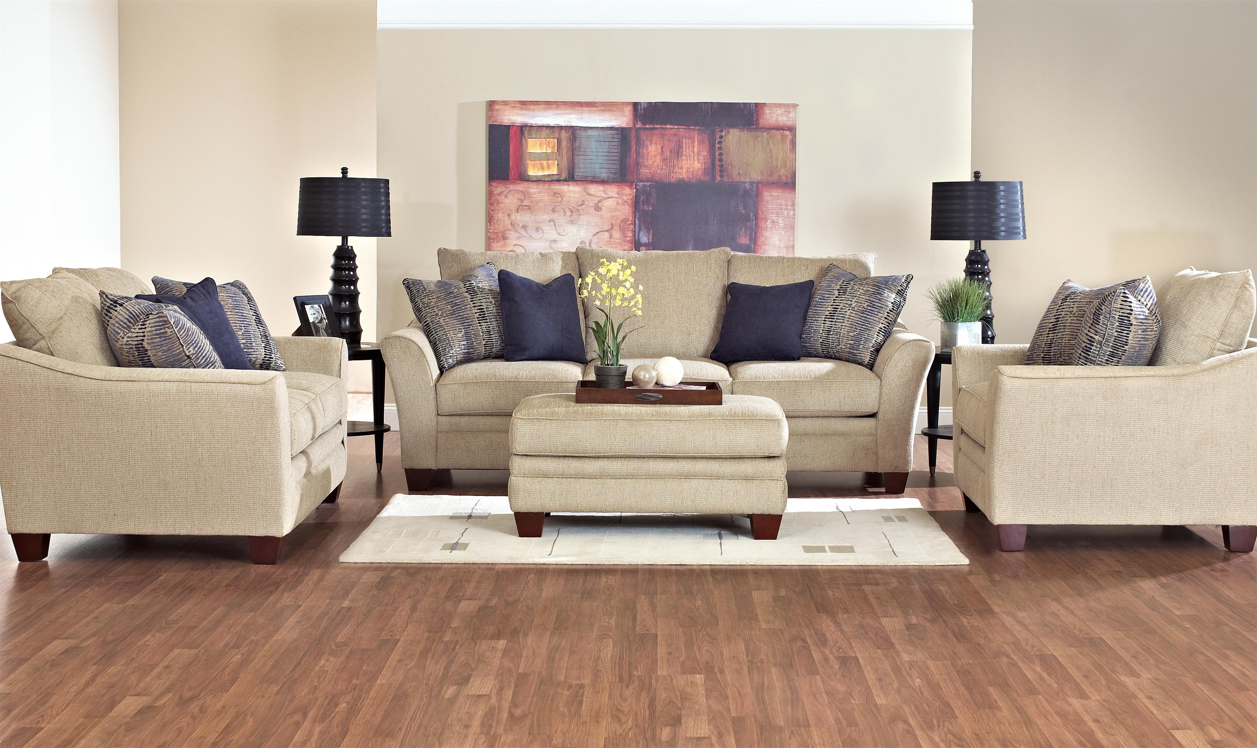 Contemporary Sofa With Block Feet By Klaussner Wolf And Gardiner Wolf Furniture