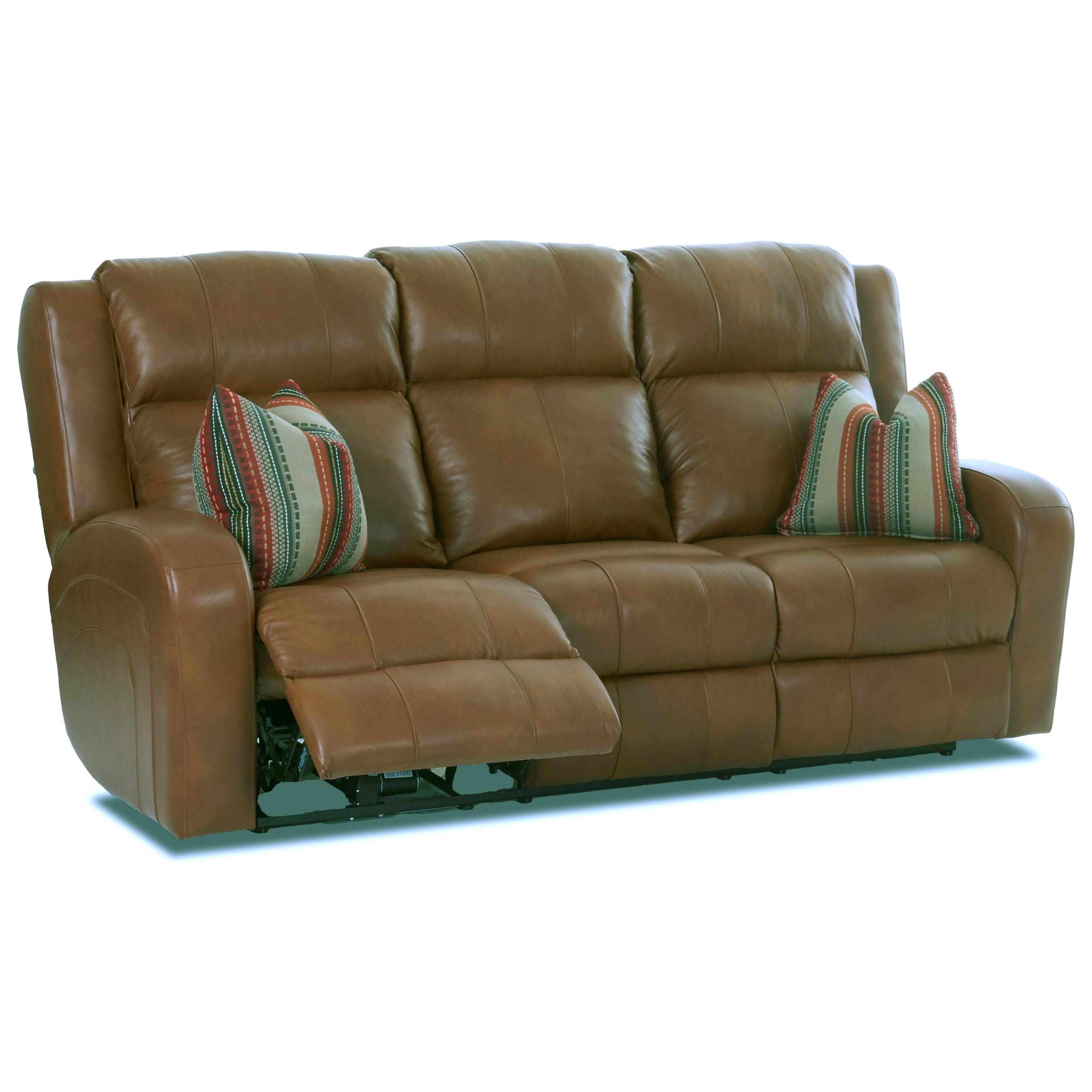 Power Reclining Leather Sofa With Power Adjustable