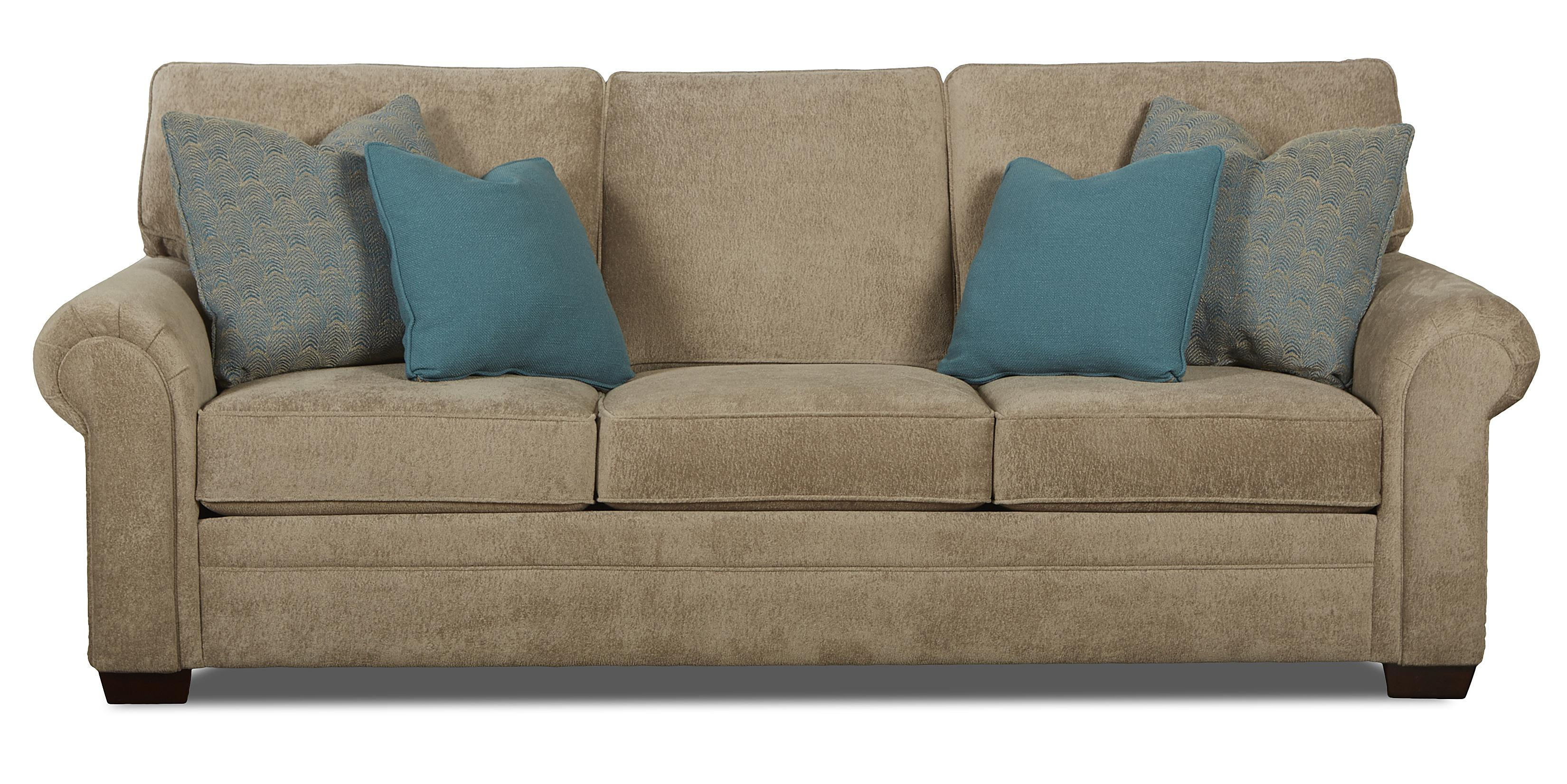 Traditional Enso Memory Foam Sleeper Sofa With Rolled Arms