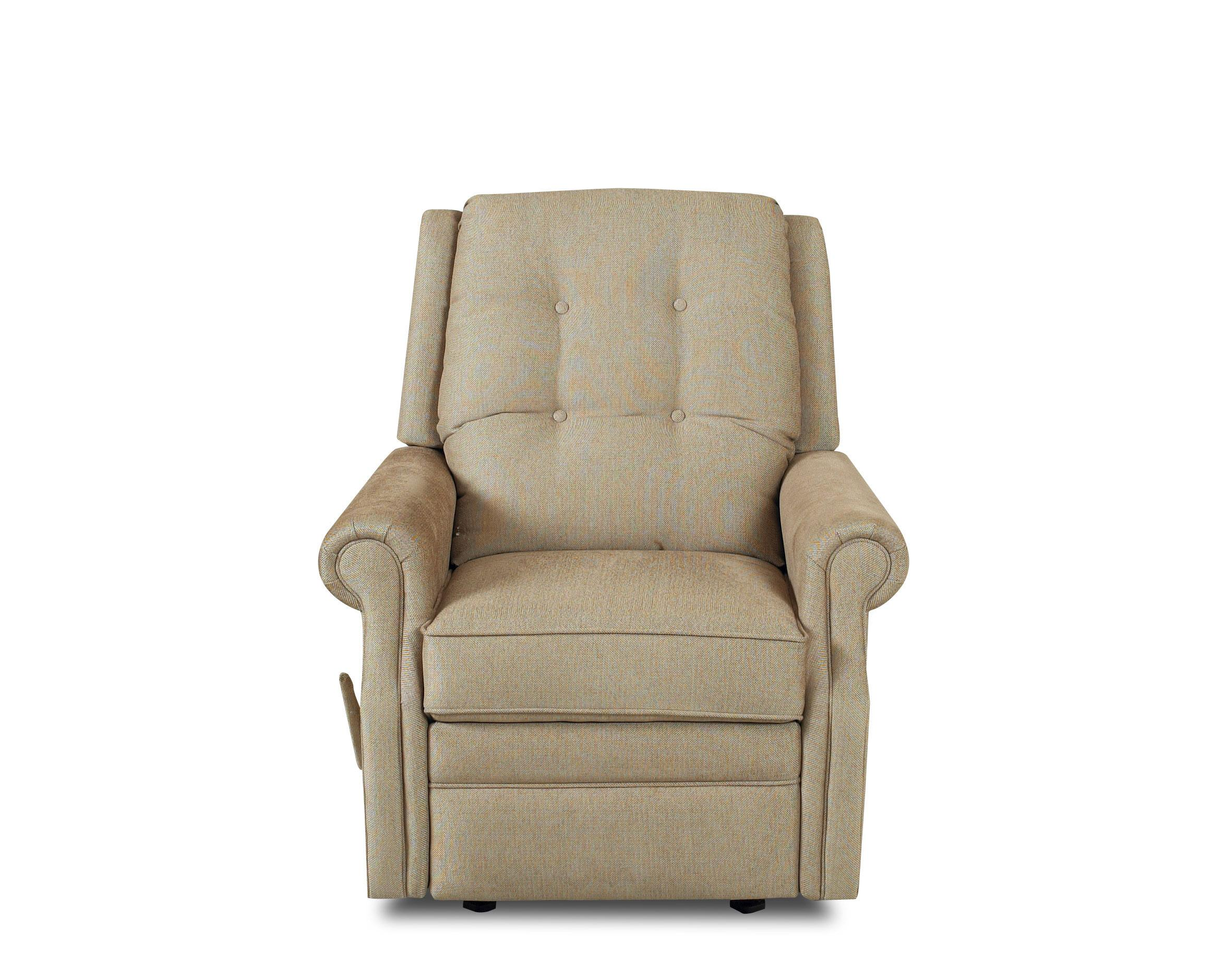 Transitional Swivel Gliding Reclining Chair With Button