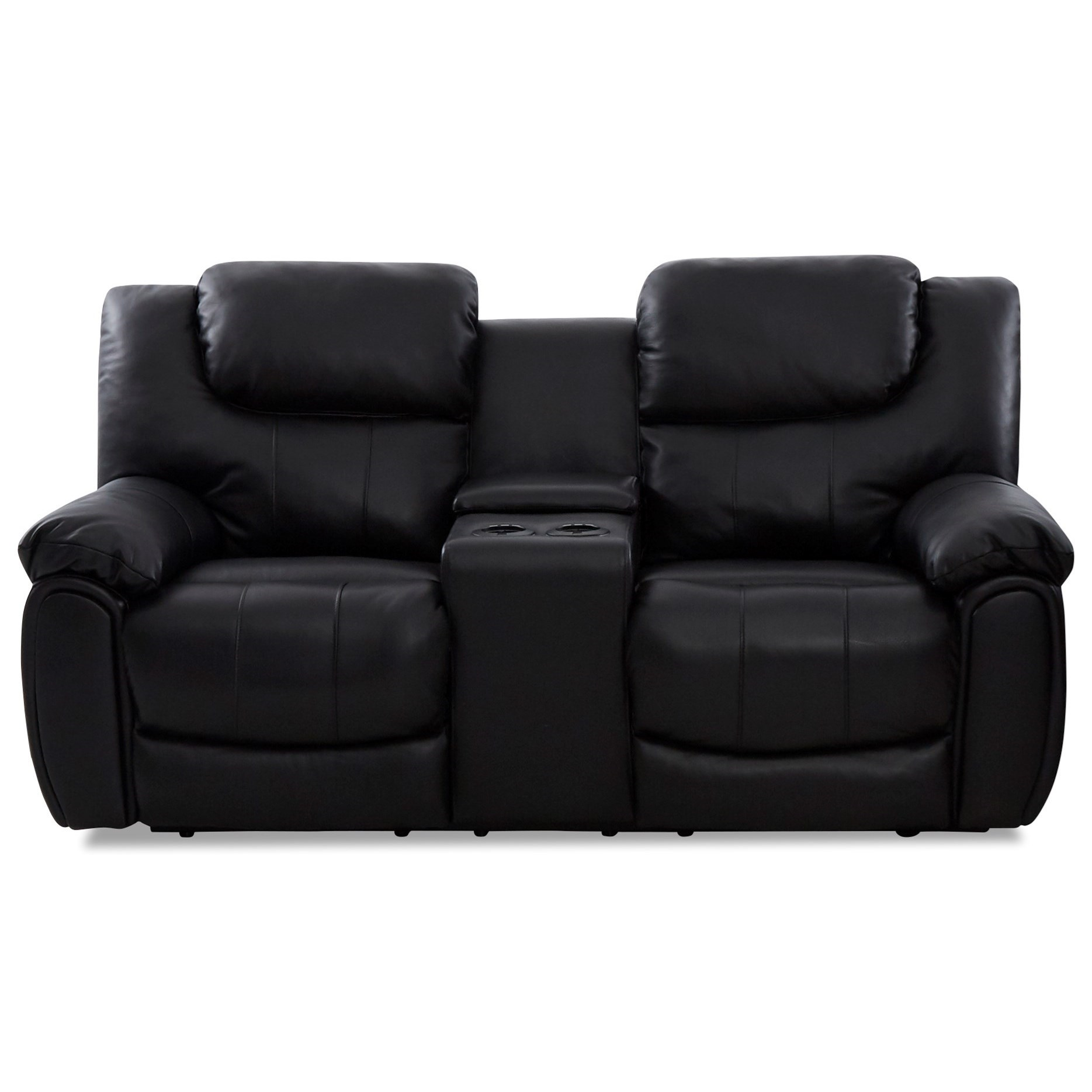 Casual Power Reclining Loveseat with Cupholder Storage and USB Charging Ports