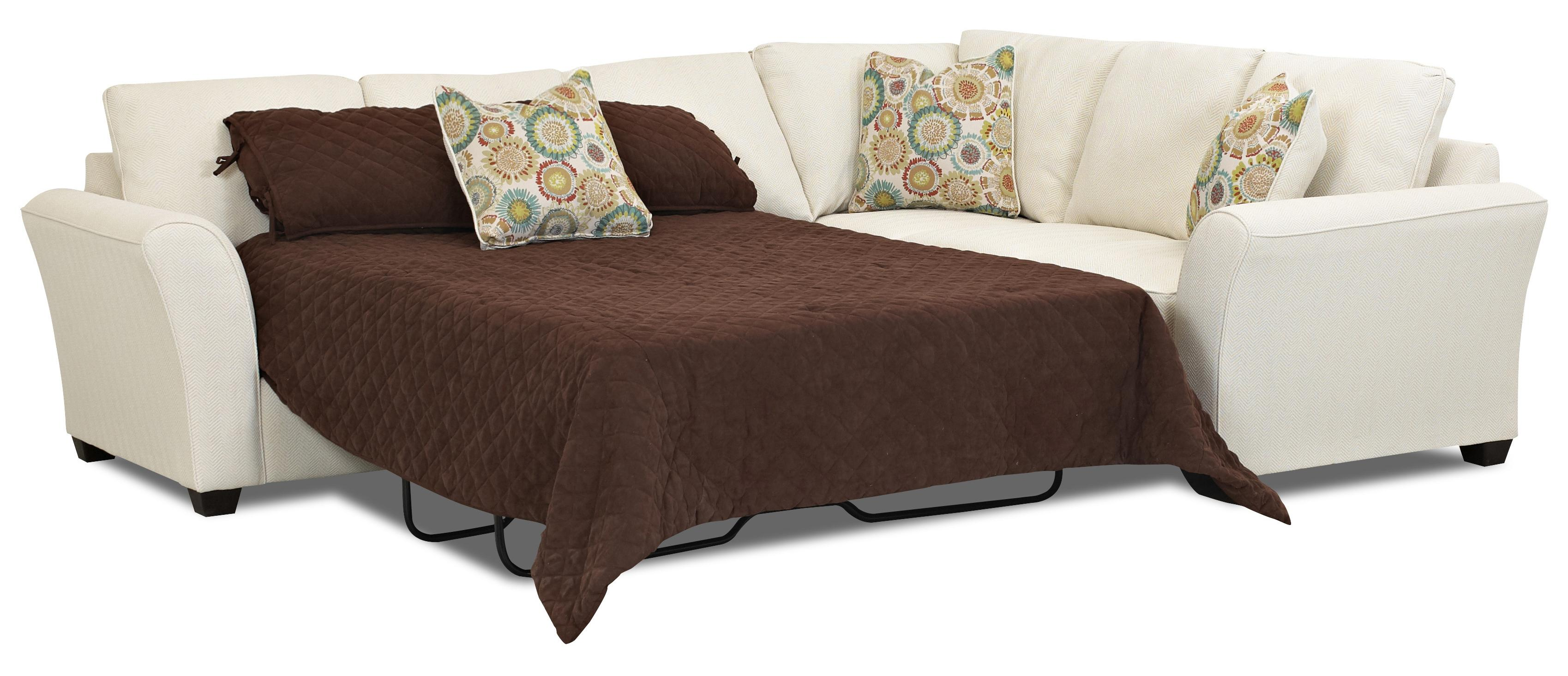 Transitional Sectional Sleeper Sofa With Dreamquest Mattress By - Convertible sofa bed sectional