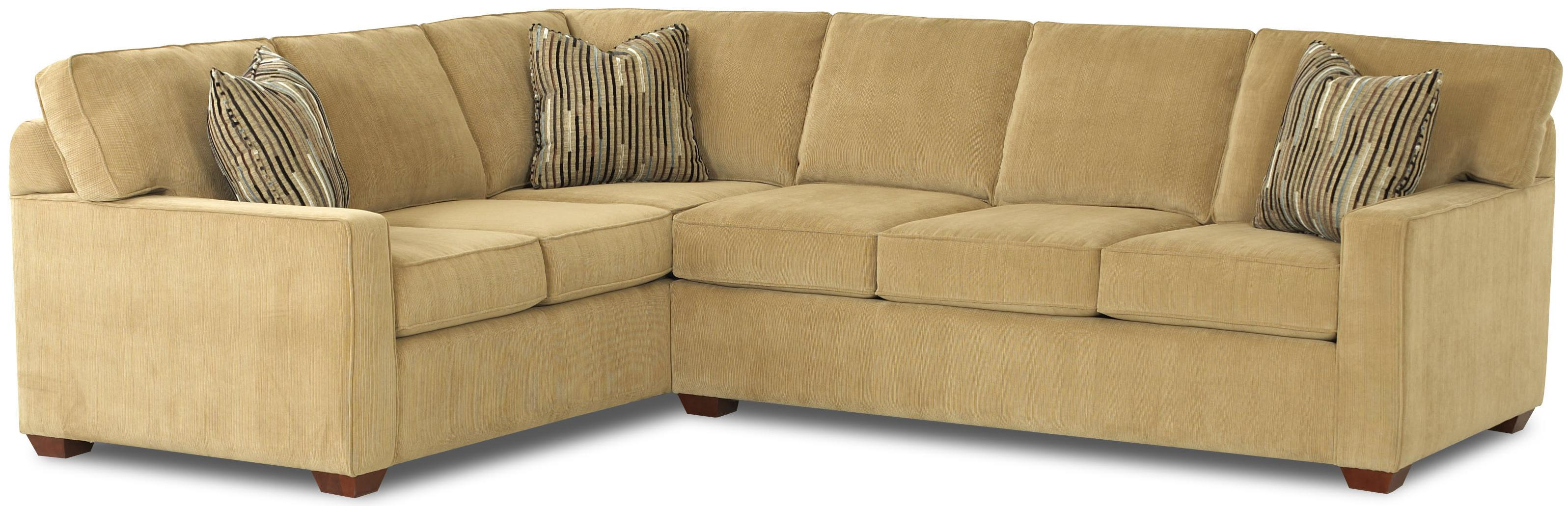 L Shaped Contemporary Sectional by Klaussner