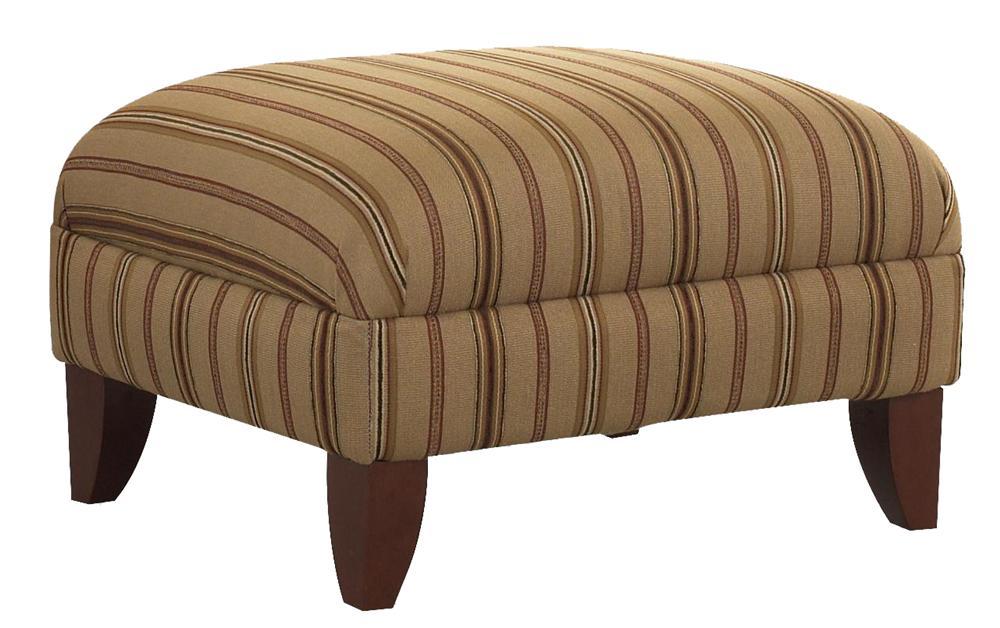 Plush Upholstered Ottoman