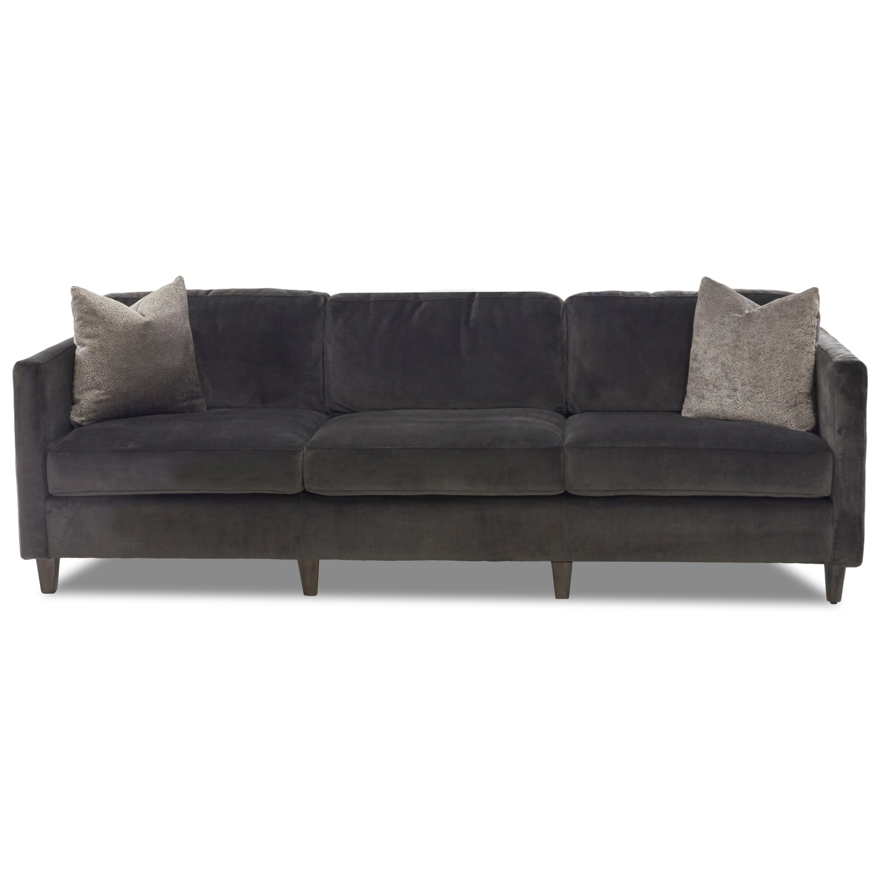"""Contemporary 90"""" Tuxedo Sofa with Pillows"""
