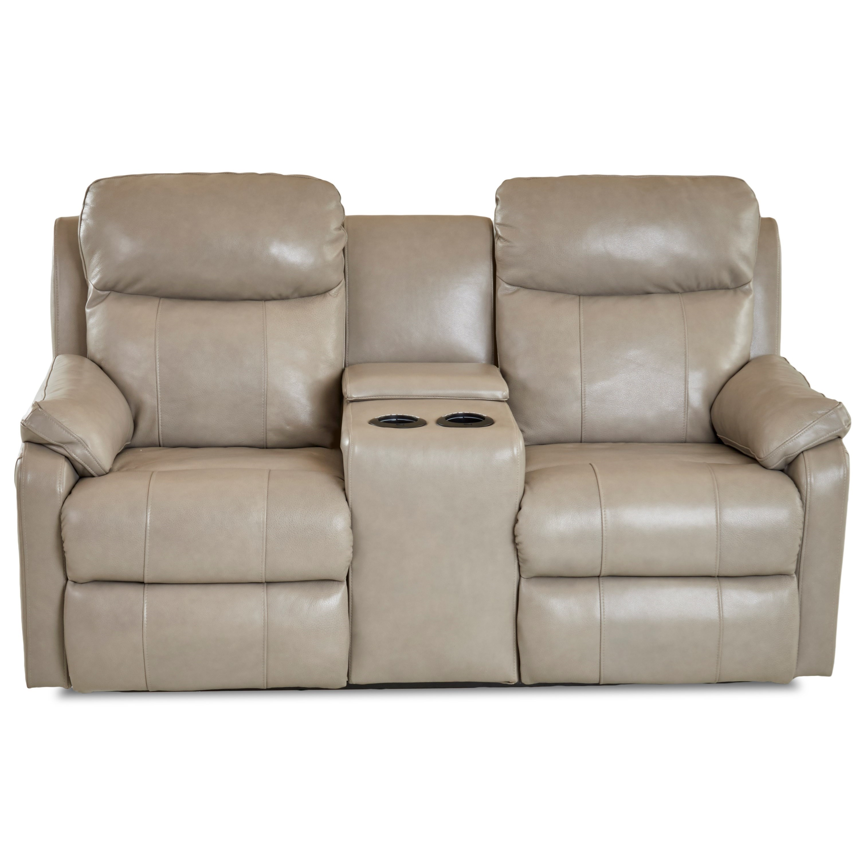 Casual Console Power Reclining Loveseat with USB Charging Ports and Power Head & Lumbar