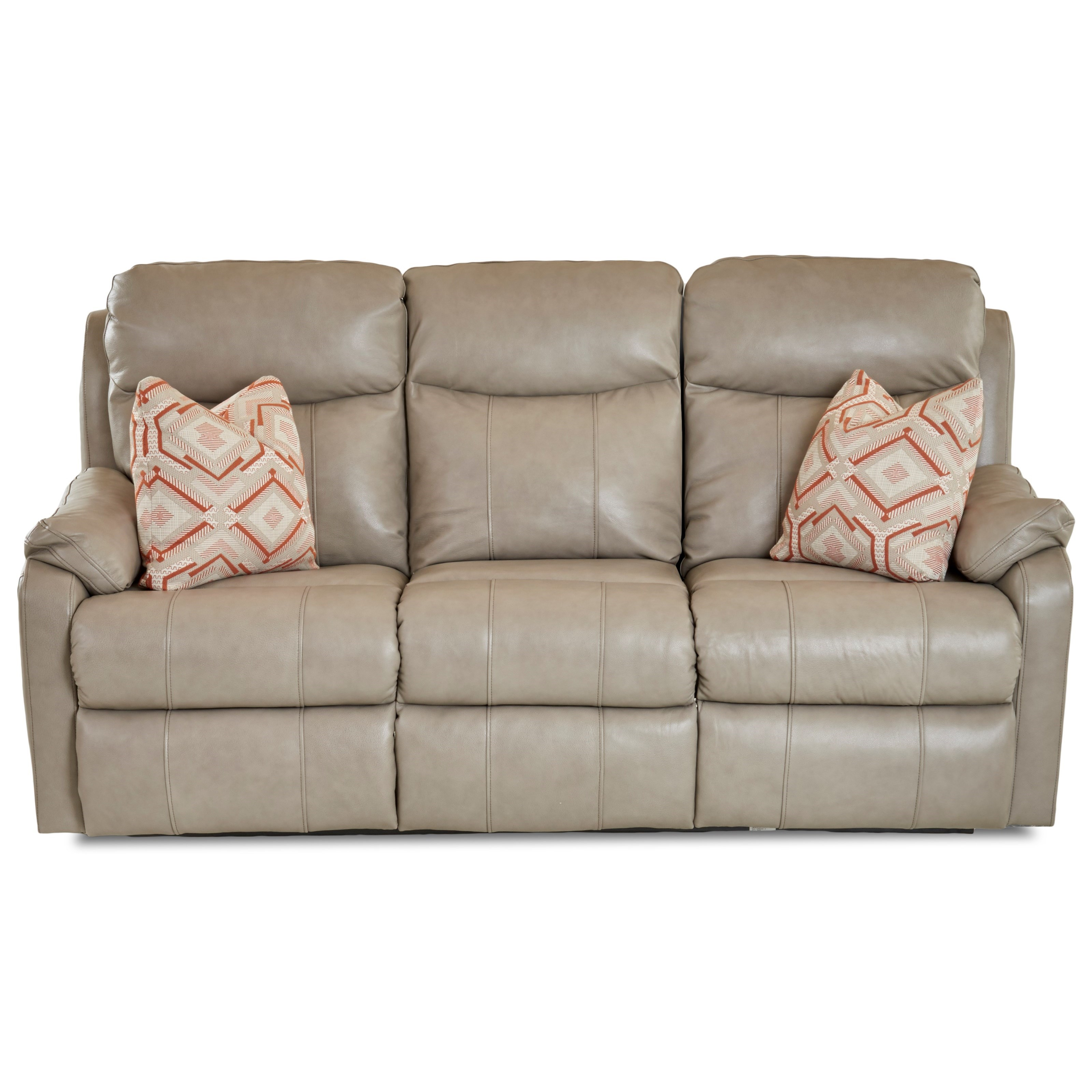 Casual Power Reclining Sofa with Power Head & Lumbar and Toss Pillows