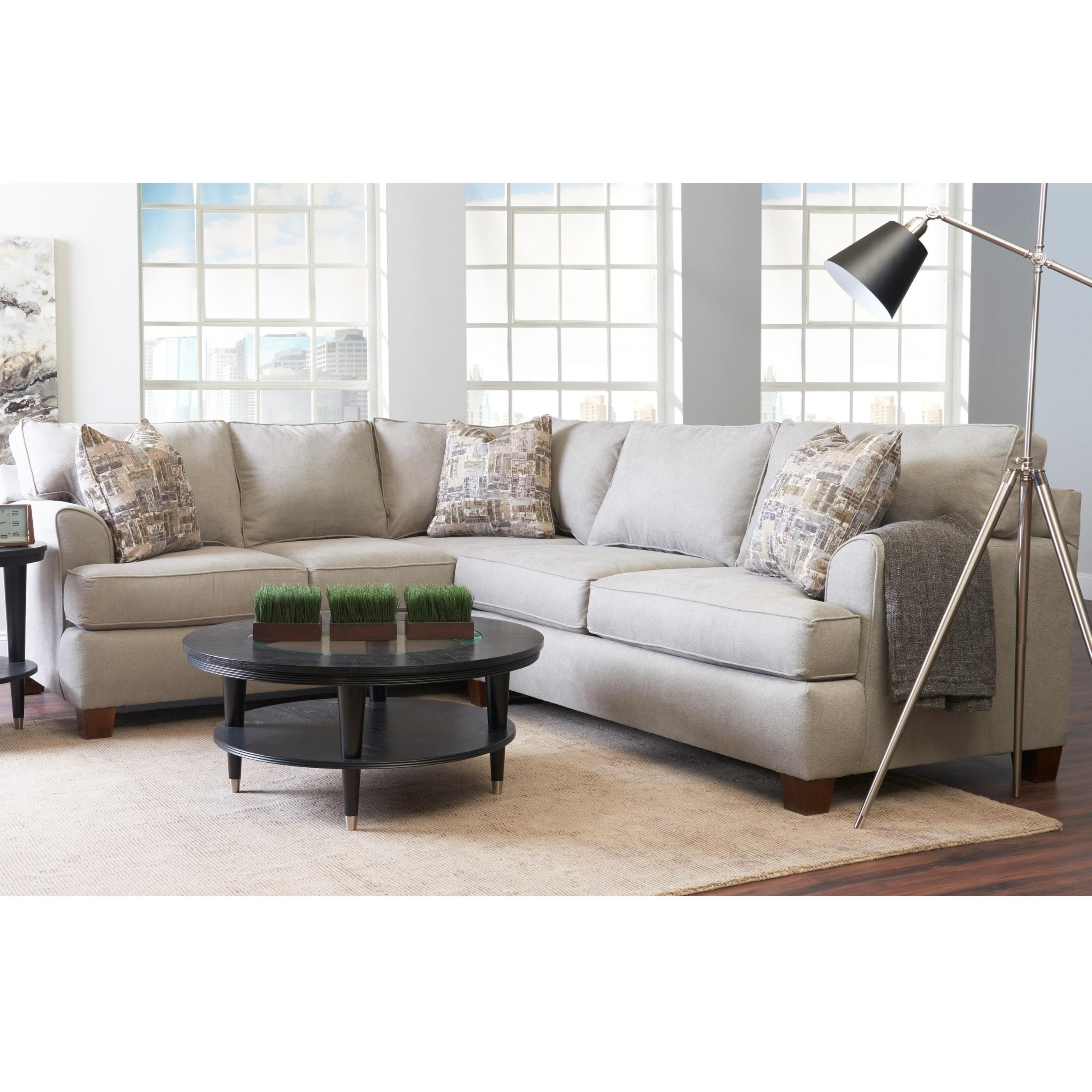 Casual 2-Piece Sectional with Right-Facing Love Seat