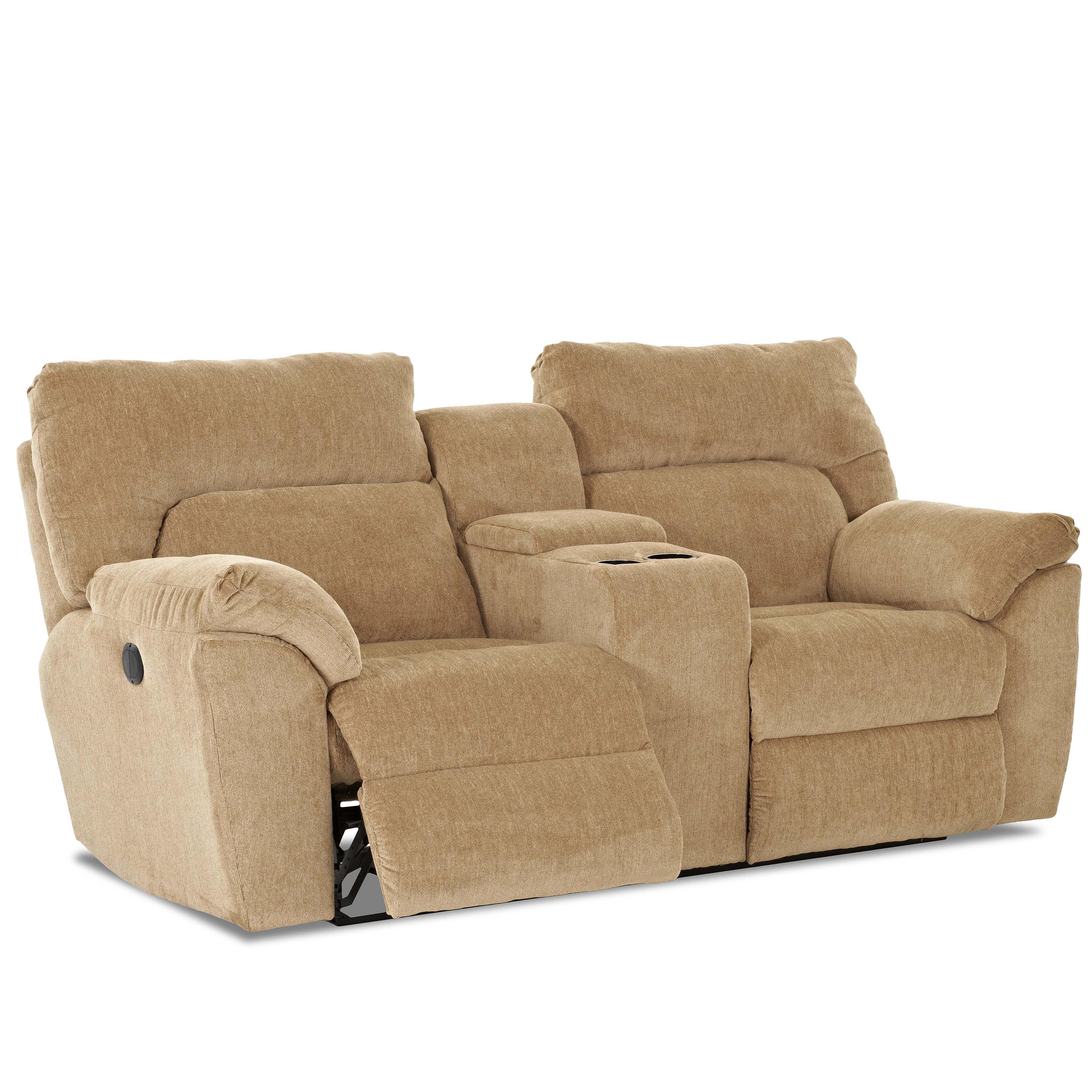 Casual Reclining Loveseat With Console By Klaussner Wolf And Gardiner Wolf Furniture