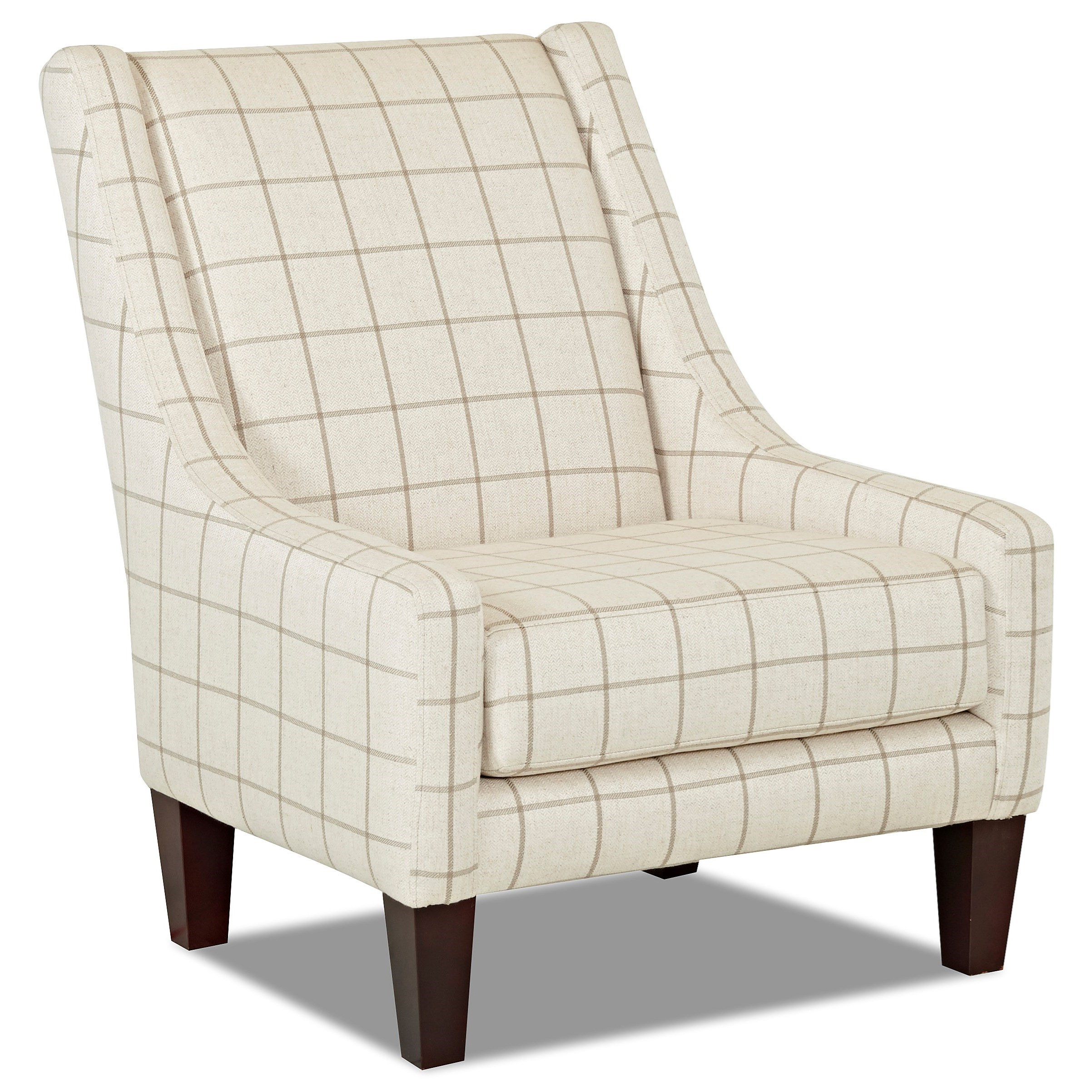 Transitional Occasional Chair with Sloping Back