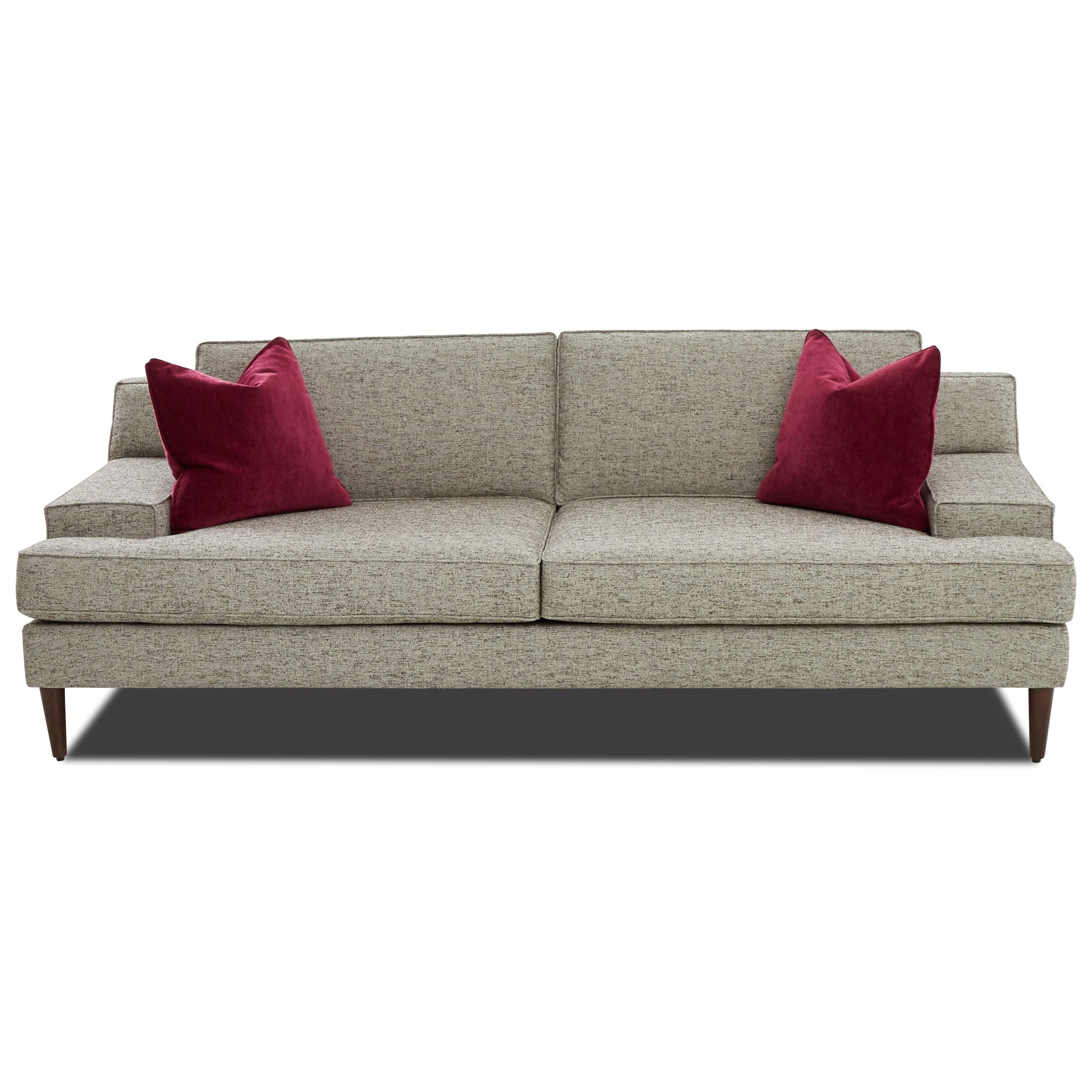 Mid-Century Modern Sofa with Wide Track Arms