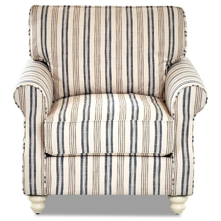 Traditional Chair with Rolled Arms