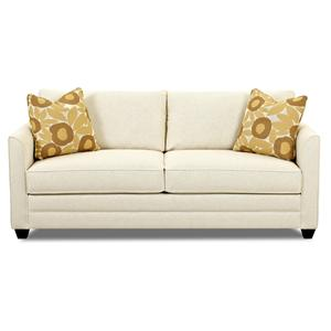 Small Sleeper Sofa With Full Size Mattress By Klaussner Wolf And