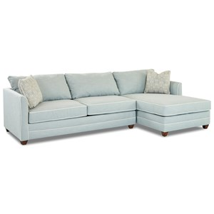 two piece sectional sofa with laf sleeper sofa and enso memory foam mattress - Small Sleeper Sofa