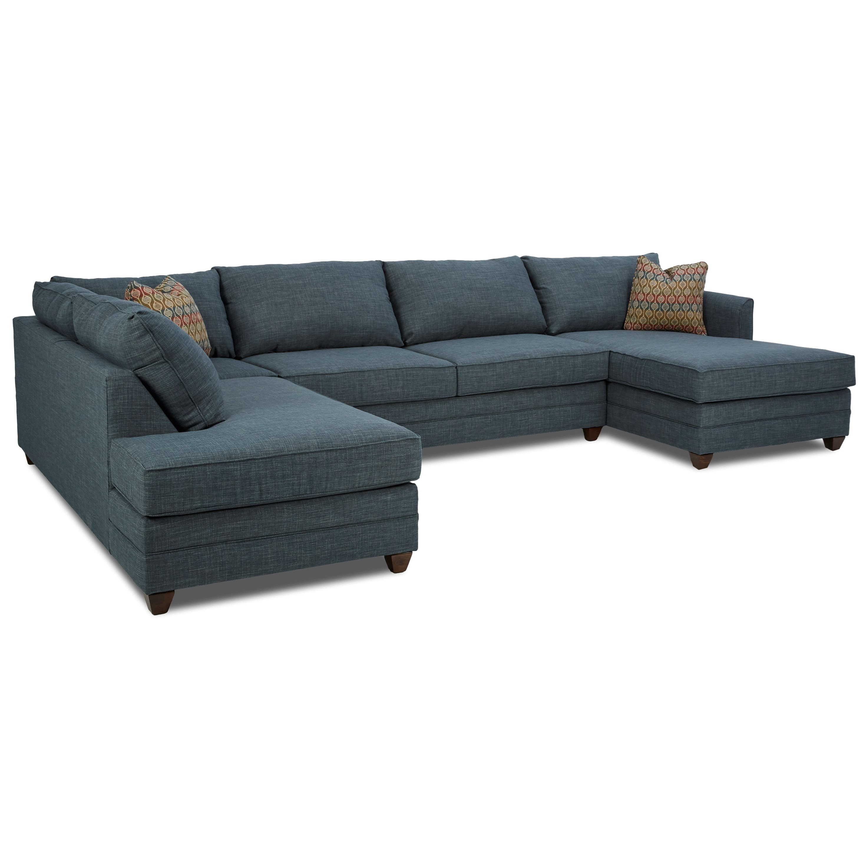 Three Piece Sectional Sofa with RAF Chaise by Klaussner