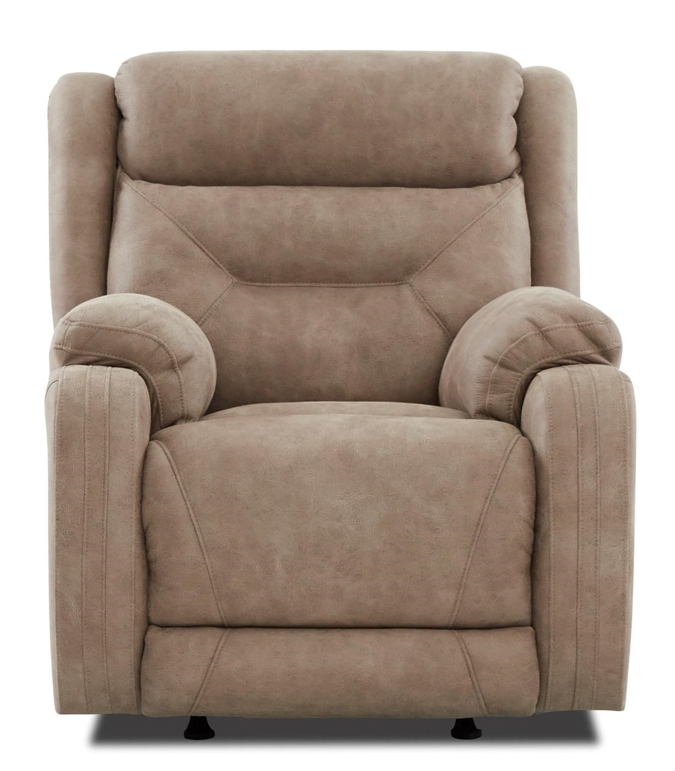 Casual Power Reclining Chair with Extra Long Legrest and USB Port