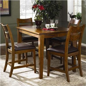 Klaussner International Urban Craftsmen Counter Height Table Set with 4 Stools