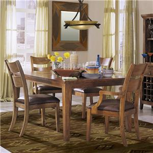 Klaussner International Urban Craftsmen 5-Piece Dining Table Set with 4 Chairs