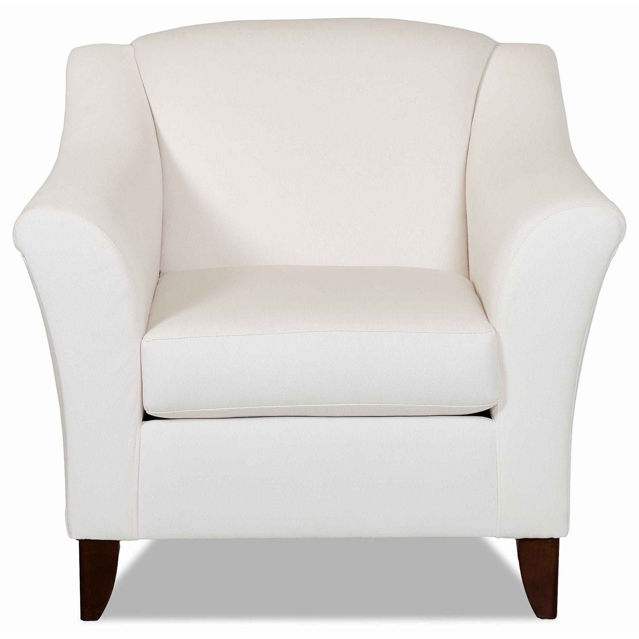 Contemporary Upholstered Chair with Flared Arms