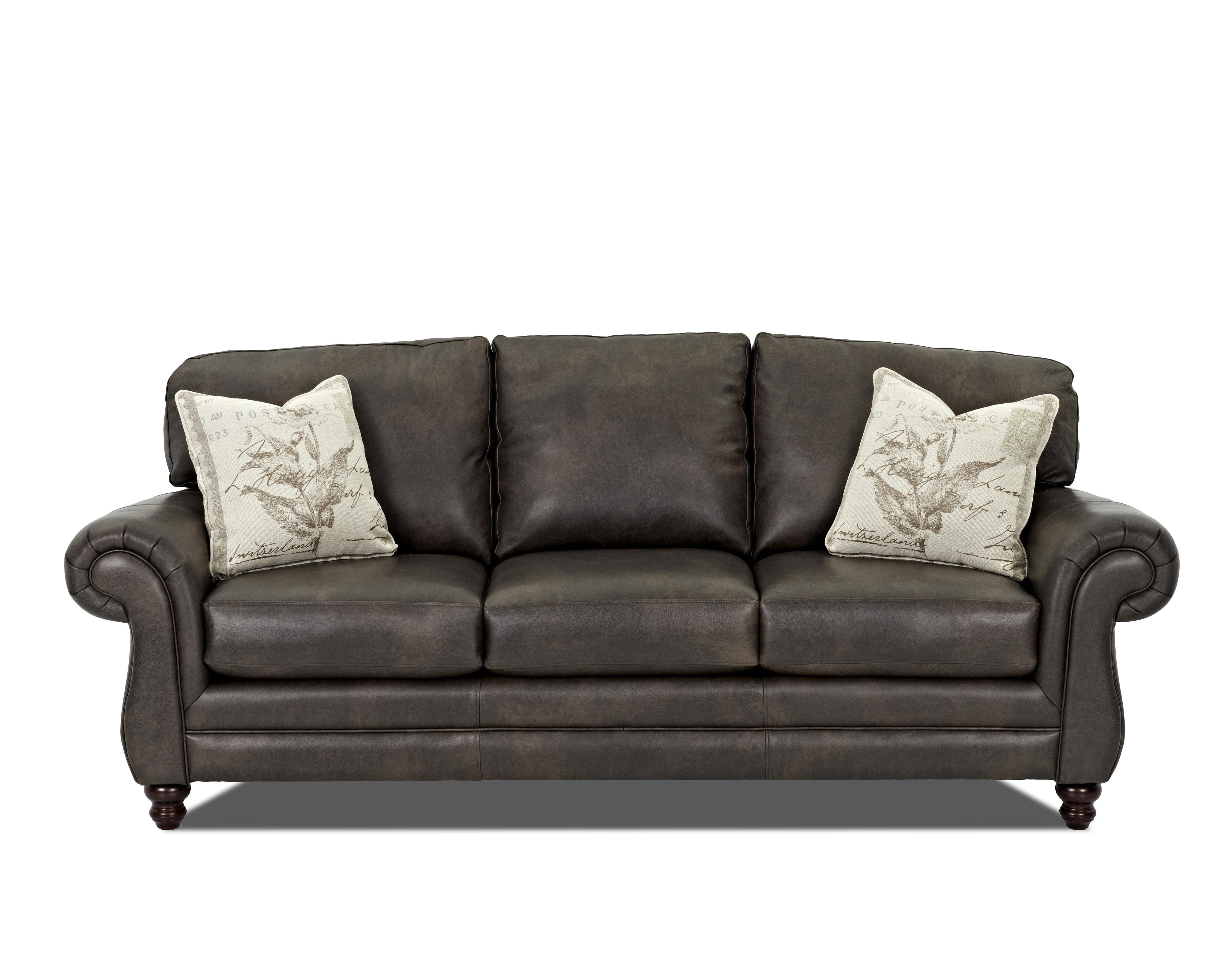 Klaussner sofa leather refil sofa Leather sofa throws