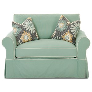victoria twin sleeper chair with slipcover