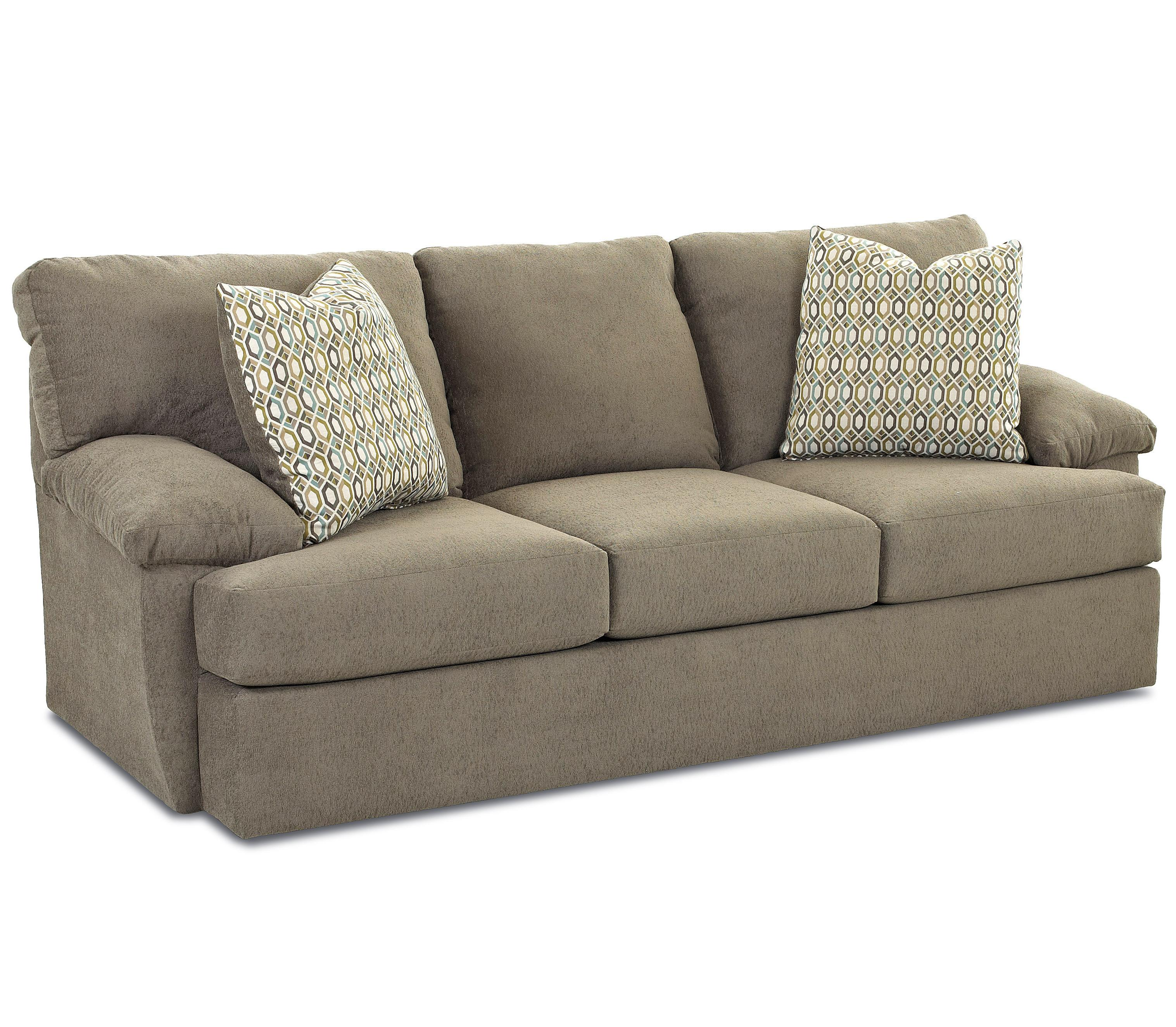 Casual Sofa With Attached Pillow Back And Foam Cushion Seat