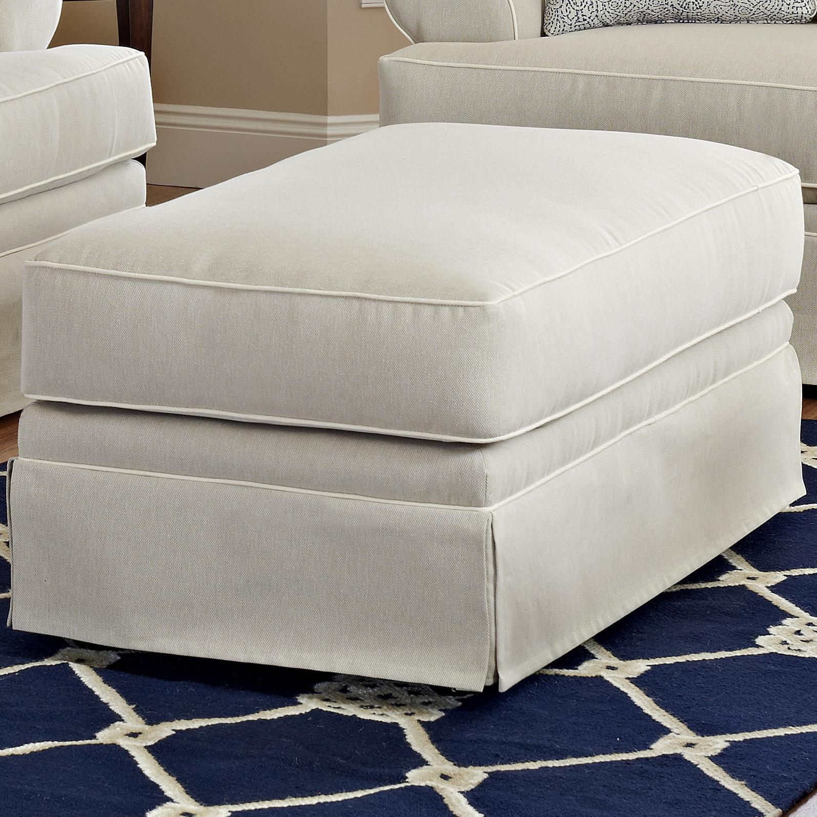 Ottoman with Welting Detail