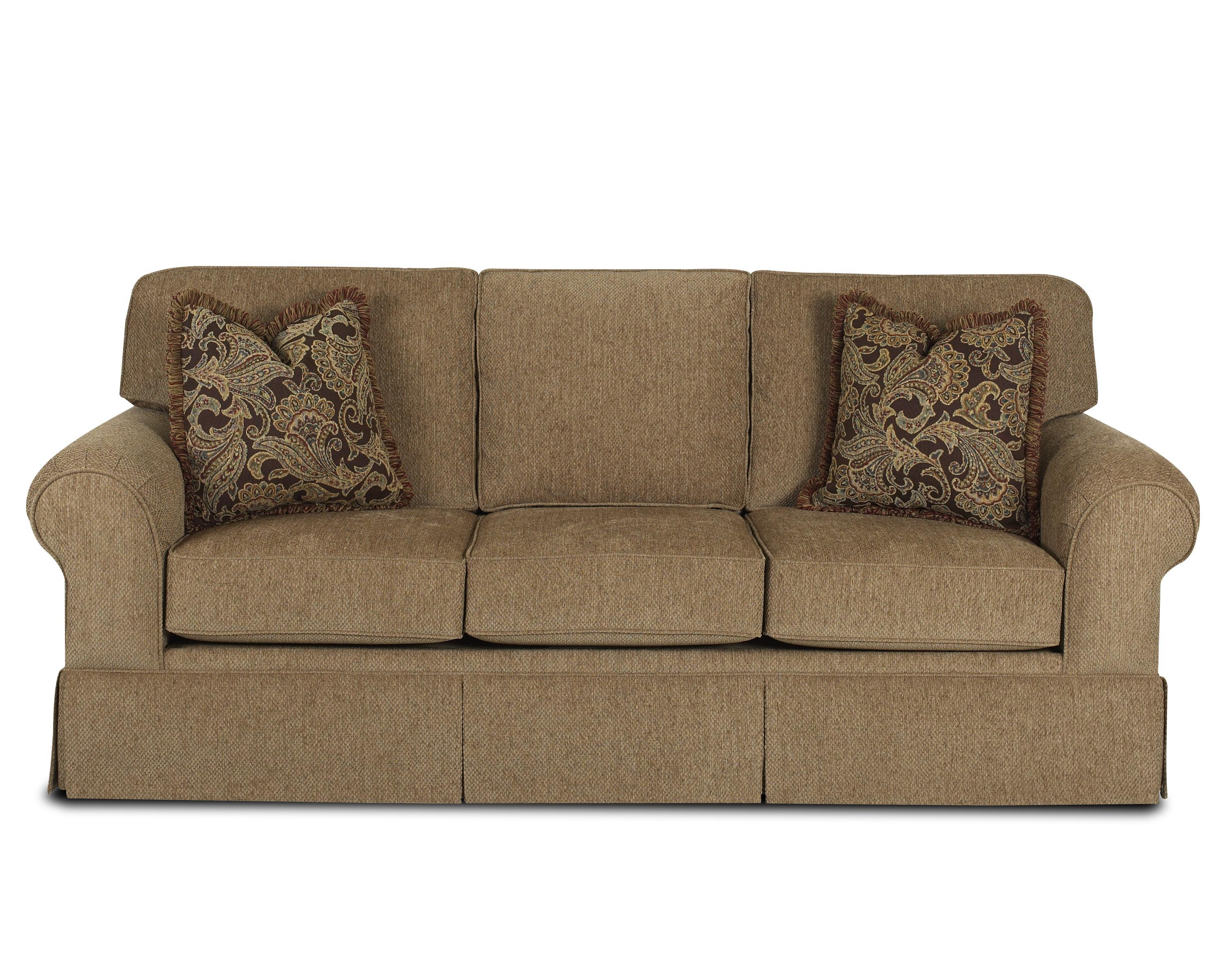 Casual Skirted Sofa By Klaussner Wolf Furniture