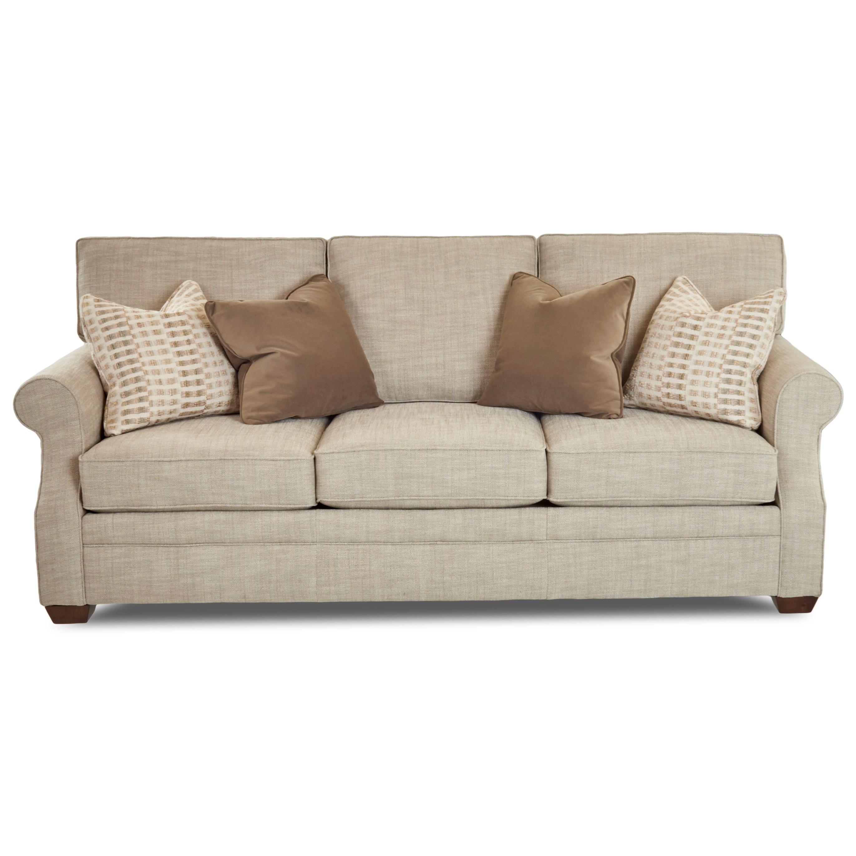 Casual Sleeper Sofa with Enso Memory Foam Mattress