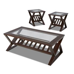 Simple Elegance Reece 3 table pack, 2 end,1 cocktail