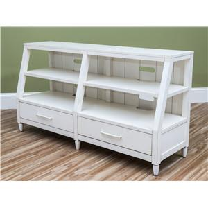 Easton Collection Sea Breeze Splish Splash-White Entertainment Console