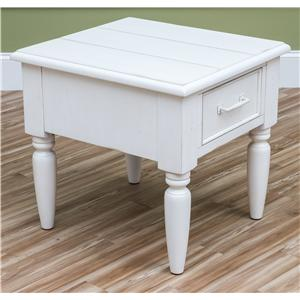 Carolina Preserves by Klaussner Sea Breeze Beachcomber-White End Table