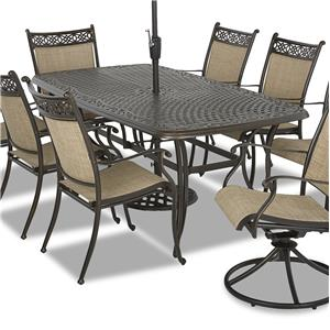 """Klaussner Outdoor Basics 40"""" x 72"""" Dining Table"""
