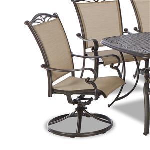 Klaussner Outdoor Verona Swivel Rock Dining Chair - 2 Pack