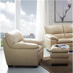 BFW Lifestyle 1588 Chair and Ottoman