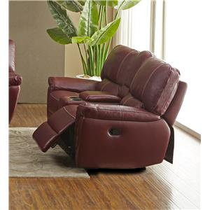 BFW Lifestyle 1738 Casual Console Reclining Loveseat