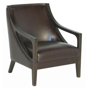 BFW Lifestyle A-738 Accent Chair with Exposed Wood
