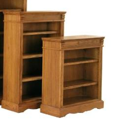 Kurio King Burnished Oak Bookcases 36 Inch Bookcase